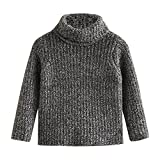 Product review for SPRMAG Little Girls Solid Turtleneck Sweater Pullover Kids Long Sleeve Knitwear
