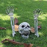 Topyuo Halloween Decoracion Terror Esqueleto decoración de Halloween de Exterior