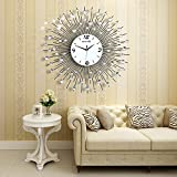 NEOTEND 3D Wall Clock 64pcs Diamonds Decorative Clock Diameter 25.6'
