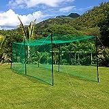 Ultimate Baseball Batting Cage [Net & Poles Package] - #42 Heavy Duty Net & Steel Uprights (Range (55' Batting Cage Package)