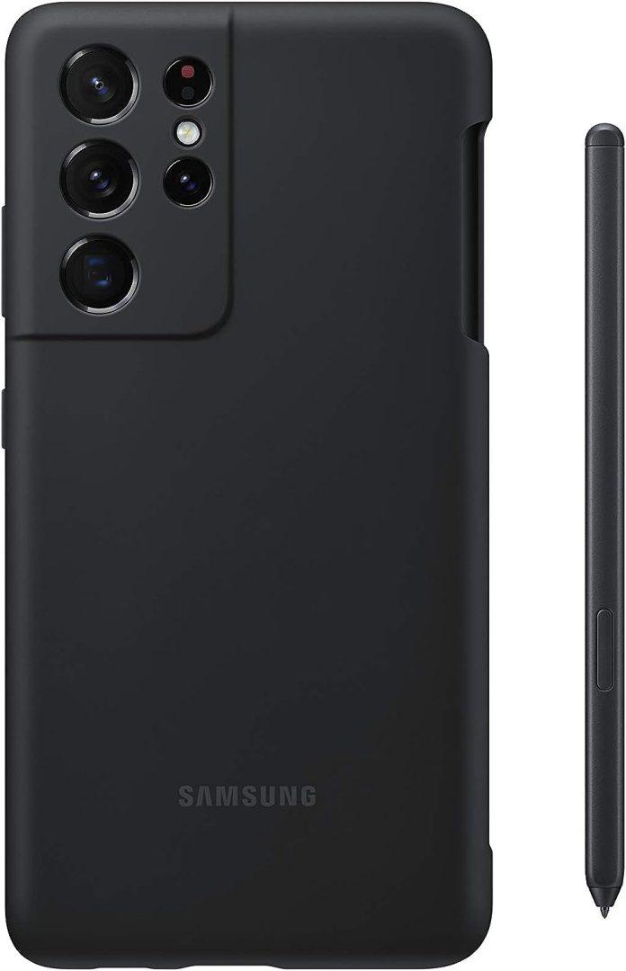 Amazon Com Samsung Galaxy S21 Ultra Silicone Case With S Pen Bundle Black Us Version
