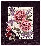 Lavish Home Rose Heavy Thick Plush Mink Blanket - 8 Pound