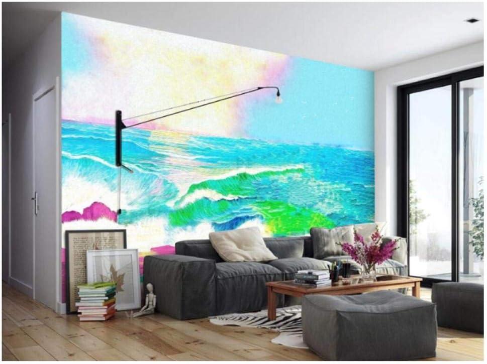 Gwrdnjpjc Wallpaper Pattern Hand Painted Sea Wallpaper Murals Unusual Wall Art Kids Bedroom Decorating Ideas Room Wallpaper Kitchen 120x100 Amazon Co Uk Diy Tools