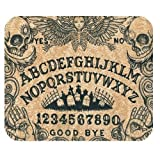 Personalized Gaming Mouse Pads,Ouija Board Dangerous Game Skull and Graveyard for Rectangle Mouse Pad