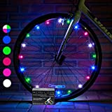 Activ Life LED Bicycle Wheel Lights (2 Tires, Multicolor) Best Easter Baskets for Kids - Top Stocking Stuffers of 2018 Popular Children Exercise Toys - Hot Child Bday Party Outdoor Family Fun