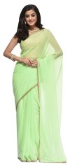 Buy Royal Couture Jaipuri Fashion Women S Faux Georgette Traditional Ethnic Saree With Gota Work And Blouse Piece Light Pista Green At Amazon In - Pista Colour, Pista Green Embroidered Kurta Combination Dresses Kurti Designs Lehnga Designs