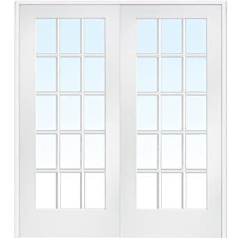 National Door Company Za09321ba Primed Mdf 15 Lite Clear Glass Prehung Interior Double