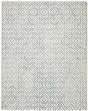 Rivet Modern Geometric Wool Area Rug, 5 x 8 Foot, Blue