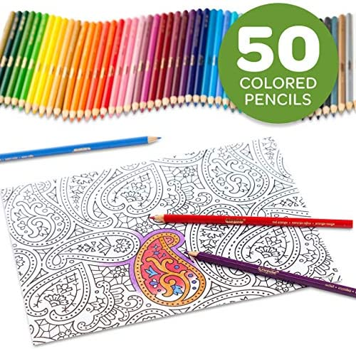 Crayola Colored Pencils, Adult Coloring, Fun At Home Activities, 50 Count, Multicolor 13