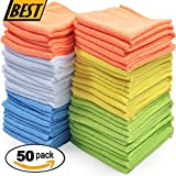 Best Microfiber Cleaning Cloth, Pack of 50
