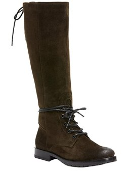 FRYE Women's Natalie Tall Combat Boot, Fatigue Soft Oiled Suede, 10 M US