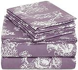 Pinzon 170 Gram Flannel Sheet Set – Queen, Floral Lavender