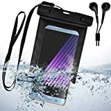 SumacLife Black Moto XT1644/Moto G Play/Nexus 6/Moto Z Play/Droid Turbo 2/Moto X Pure/G4 XT1621/XT 1058/Moto E Waterproof case + Color Matching EarBud with Mic