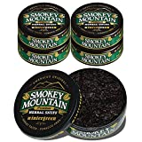 Smokey Mountain Wintergreen Snuff, 5 Cans, no Tobacco and no Nicotine, Refreshing Herbal and Smokeless Chew Alternative