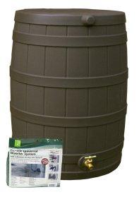 Good Ideas RW50-DIV-OAK Rain Wizard Rain Barrel