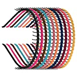 Zhanmai 10 Pieces Unisex Metal Teeth Comb Hair Hoop Hairband Headband Hair Accessories, Multicolor