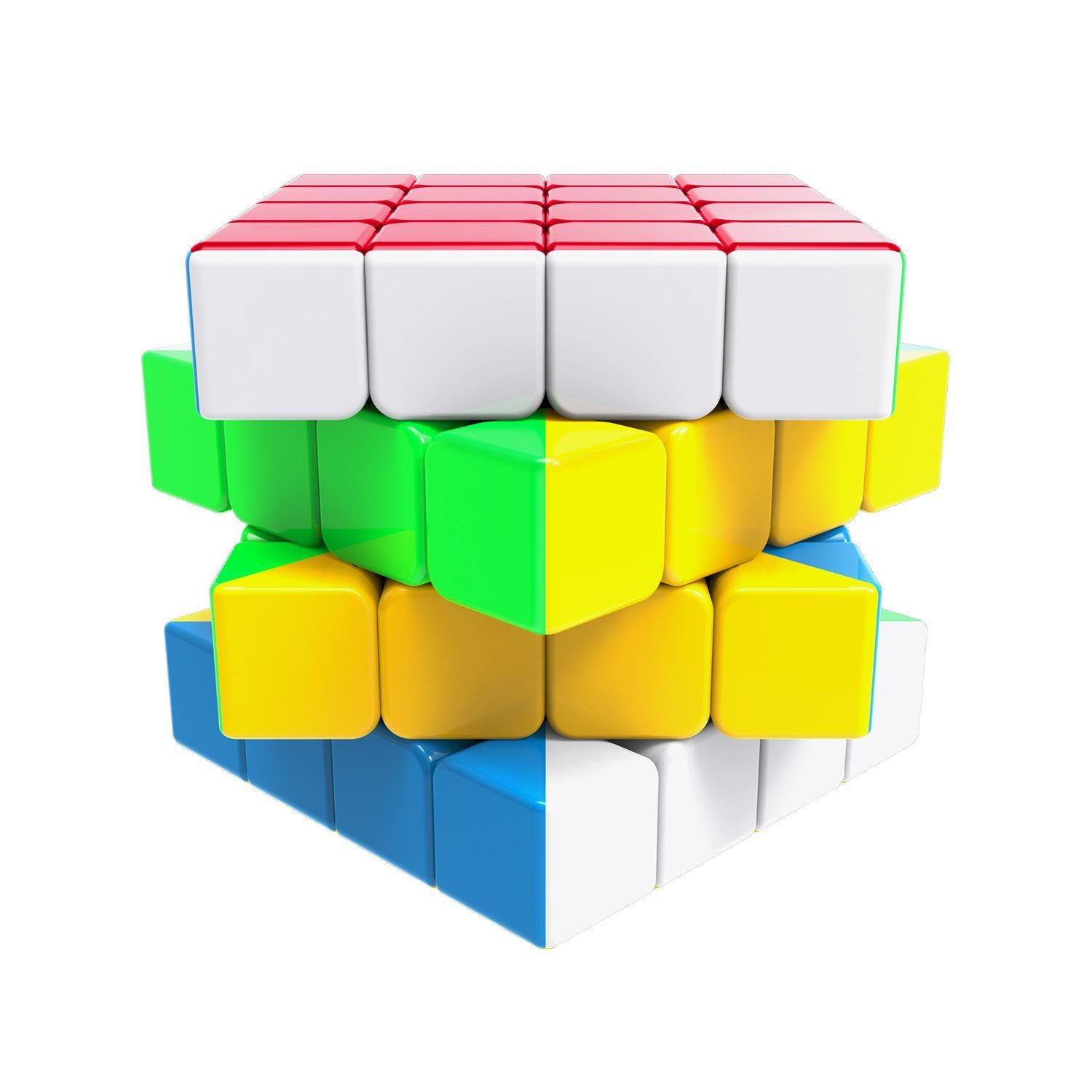 Newisland 4X4X4 Stickerless Magic Puzzle Cube with Instruction and Carrying Bag