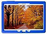 Bobj Rugged Case for Samsung Galaxy Tab S 10.5 Tablet Models SM-T800, SM-T805, SM-T807 - BobjGear Custom Fit - Patented Venting - Sound Amplification - BobjBounces Kid Friendly (Batfish Blue)