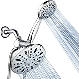 AquaDance 7' Premium High Pressure 3-way Rainfall Shower Combo Combines the Best of Both Worlds - Enjoy Luxurious Rain Showerhead and 6-setting Hand Held Shower Separately or Together! - 3327