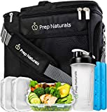 Meal Prep Bag Meal Prep Lunch Box - Meal Prep Insulated Lunch Bag for Men - Meal Prep Cooler Bag with Containers - Insulated Mens Lunch Box for Men Lunch Bags for Women Men's Lunch Bag For Work Adult