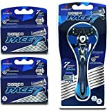 Dorco Pace 7 - World's First and Only Seven Blade Razor System- Value Pack (10 Cartridges + 1 Handle)
