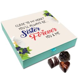 Chocholik Raksha Bandhan Gift Box – Sister You are Close to My Heart Chocolate Box for Sister – 9pc