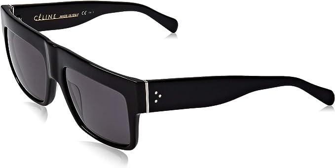 Celine 41756 807 Black ZZ Top Square Sunglasses Polarised Lens Category 3 Size at Amazon Women's Clothing store
