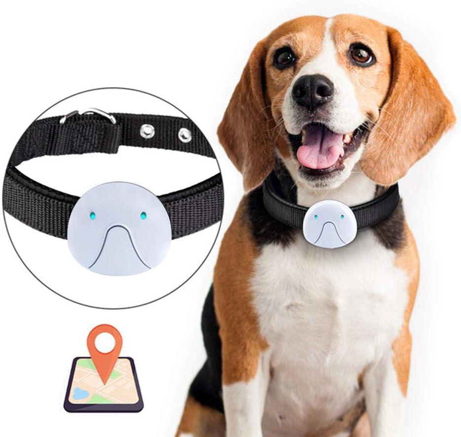 Rastreador de mascotas Kuoser Sin tarifas mensuales, collar de seguimiento GPS impermeable y liviano para perros y gatos, aplicable para GSM y WIFI con ubicación en vivo actualizada por 10 s