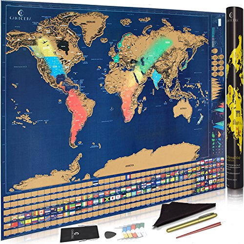 Scratch Off World Map With Us States.Scratch Off World Map Poster With Us States And Country Flags