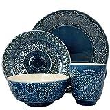 Elama ELM Petra 16 Piece Stoneware Dinnerware Set, 16pc