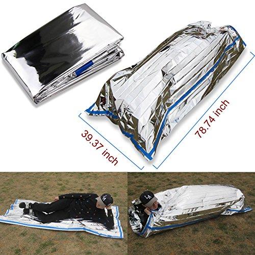 3 en 1 emergencia supervivencia manta para tienda de campaña saco de dormir, Wady Portatil Carpa Refugio De Campamento De Emergencia Plegable Supervivencia Al Aire Libre Para Acampar 3