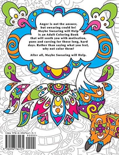 Maybe Swearing Will Help: An Adult Coloring Book w/30 markers - Giftwize