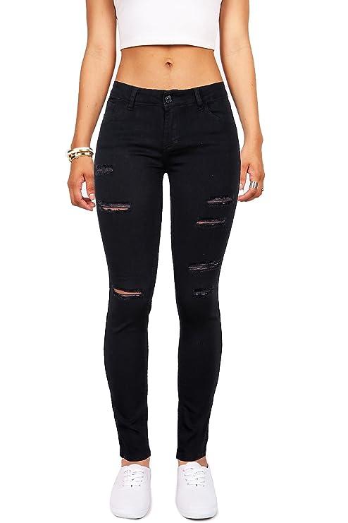 Pantalones rotos negros para mujer https://amzn.to/2PjclNj