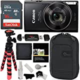 Canon PowerShot ELPH 360 HS (Black) with 12x Optical Zoom and Built-in Wi-Fi, Ritz Gear Flexi Tripod, Lowepro Case, Lexar 16GB and Accessory Bundle