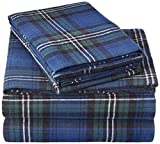 Pinzon 160 Gram Plaid Flannel Sheet Set - King, Blackwatch Plaid - FLSS-BWPL-KG