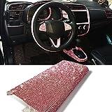 YGMONER 9000pcs Bling Crystal Rhinestone 9.4 x 7.9'' DIY Car Decoration Sticker (hot Pink)