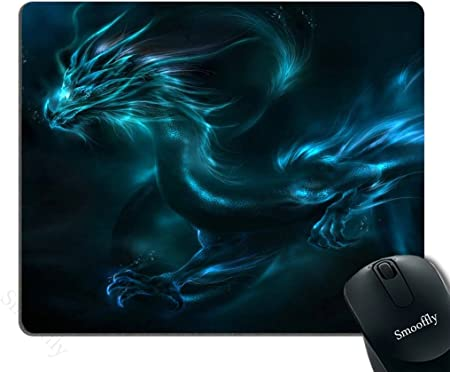 Amazon Com Smooffly Mouse Pad Unique Design Mouse Pad Cool Blue Dragon Design Gaming Mousepad Computers Accessories