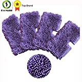 HBK 4pcs Purple Microfiber Cleaning Mop Pads for Shark Floor Steamer Cleaning Pads for Shark S3550 S3501 S3601 S3901 Replacement