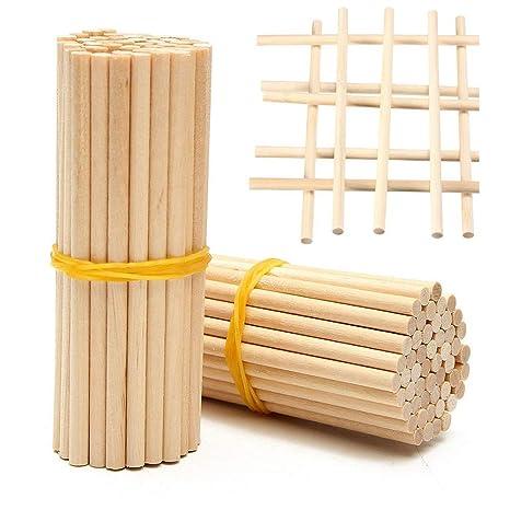 Bastoncini Di Legno 100 Pezzi Lunghi Bastoncini Di Legno Per Fai Da Te Craft Food Lunghi Bastoncini Di Bambù Rotondo In Legno 20 Cm Arfwood