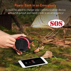 ThorFire-LED-Camping-Lantern-Lights-Hand-Crank-USB-Rechargeable-Lanterns-Collapsible-Mini-Flashlight-Emergency-Torch-Night-Light-Tent-Lamp-for-Camping-Hiking-Tent-Garden-Patio-CL01Black