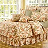 C&F Home Amelia Quilt All- All-Season Oversized Reversible Cotton Bedding Bedspread with Handcrafted Floral Pattern, Twin Size, Red