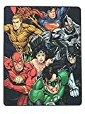 Justice League Blanket - Plush Throw - Flash - Superman - Wonder Woman - Batman - Aquaman - Green Lantern - Cyborg