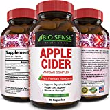 Apple Cider Vinegar Weight Loss Supplement Natural Detox Fat Burner Diet Pills Digestion Support Fast Acting Metabolism Booster Best Appetite Suppressant for Men and Women 90 Capsules