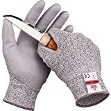 SAFEAT Safety Grip Work Gloves for Men and Women - Protective, Flexible, Cut Resistant, Comfortable PU Coated Palm. Free eBook Gift Included! Size Medium