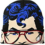 Superman Men's Flip Mask Beanie, Black, One Size