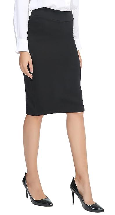 Falda negra para mujer elegantehttps://amzn.to/2QecPtr