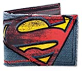 "Superman - Vintage Logo Canvas / Jeans Wallet - Billfold (Size: 4.3"" x 3.5"") by Merchandiseonline"