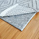 "RUGPADUSA, 8'x10', 1/4"" Thick, Basics Felt + Rubber Rug Pad, Non-Slip Rug Pad, Adds Cushion and Floor Protection Under Rugs, Safe for all Floors and Finishes"