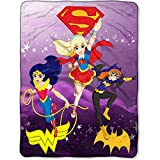 Warner Brothers DC Comics Super Hero Girls Plush Throw Fleece Blanket