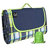 REDCAMP Outdoor Picnic Blanket Waterproof Extra Large - 79'x75', Durable Oxford Foldable Outdoor Blanket with Tote and Bag for Camping Travel, Green New
